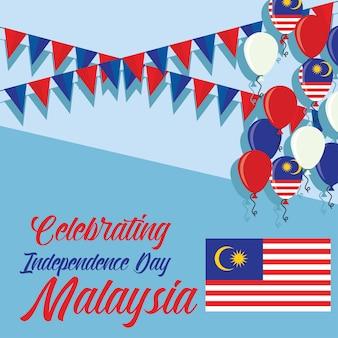 Célébrer la malaisie joyeux jour de l'indépendance