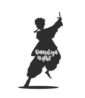 Célébrez le festival navratri avec le vecteur de conception de garba dansant, illustration vectorielle dessinée à la main.