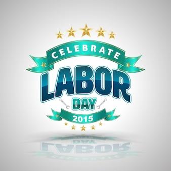 Célébrez l'insigne de la fête du travail. illustration vectorielle