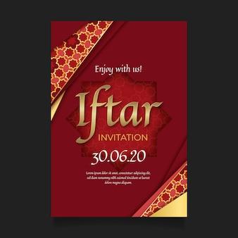 Célébrez l'invitation réaliste de la fête indienne de l'iftar