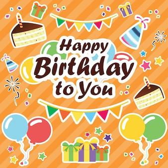 Célébrons la bannière. bannière de joyeux anniversaire. bannière de fête