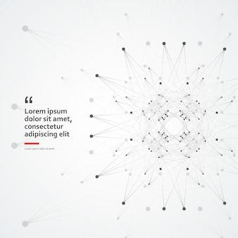 Cellule moléculaire connexion internet technologie biologie science fond abstrait géométrique