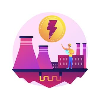 Centrale électrique, industrie électrique, production d'énergie. tissu de production d'électricité, sous-station électrique, source d'énergie électrique