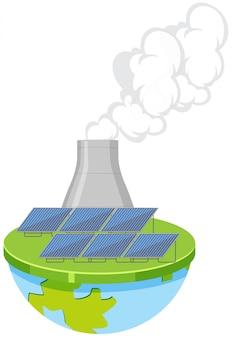 Centrale nucléaire isolée