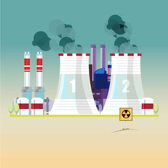 Centrale nucléaire.