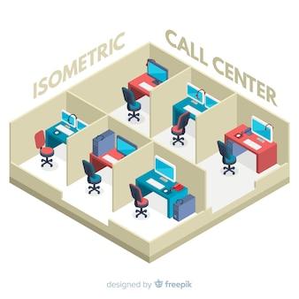 Centre d'appels isométrique