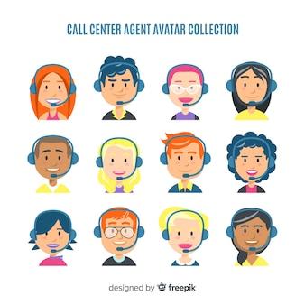 Centre d'avatar du centre d'appels