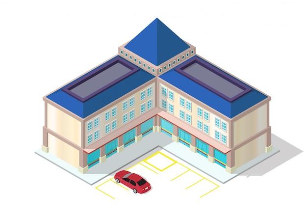 Centre commercial isométrique