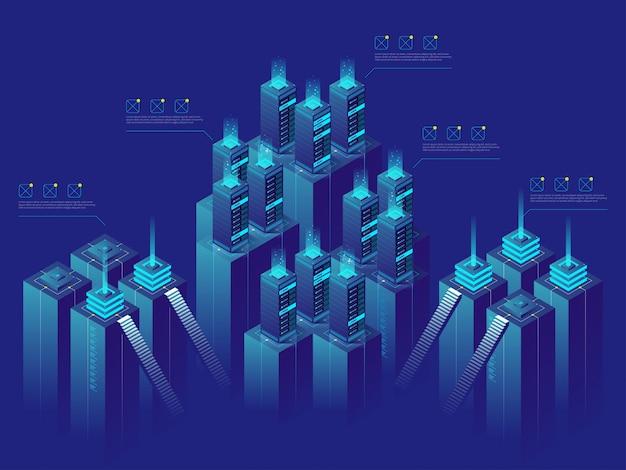 Centre de données et échange de données, stockage dans le cloud