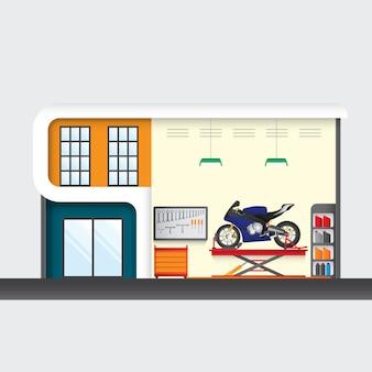Centre de service moto, service véhicule