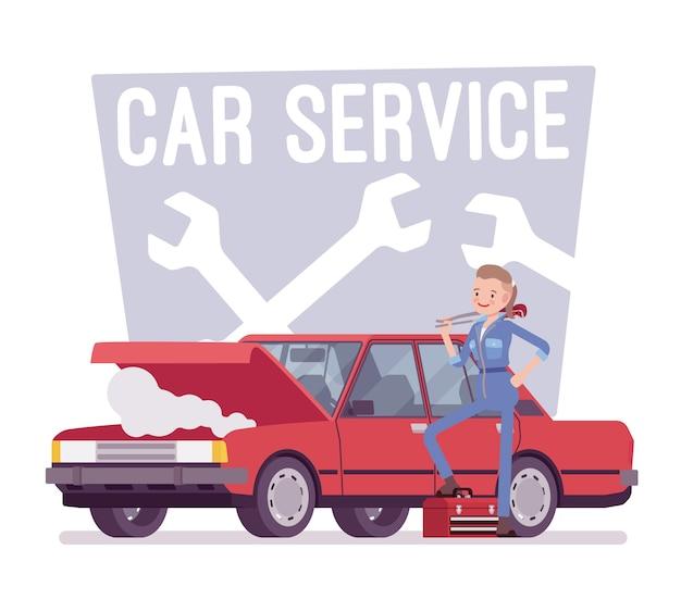 Centre de service de voiture