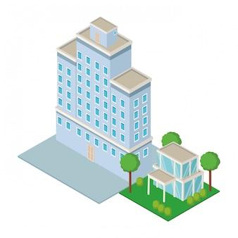 Centre ville et construction isométrique