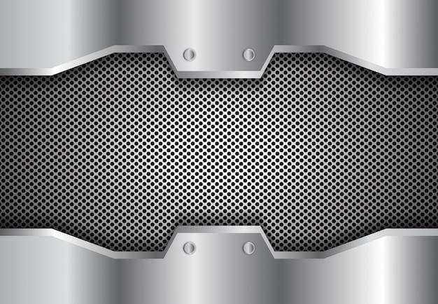 Cercle 3d fond métallique