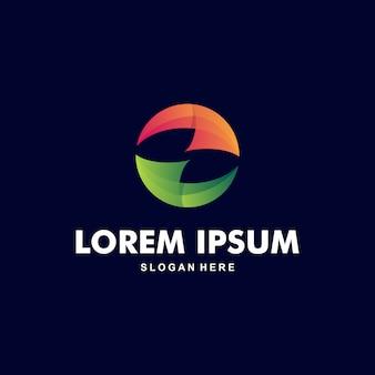 Cercle abstrait coloré logo premium
