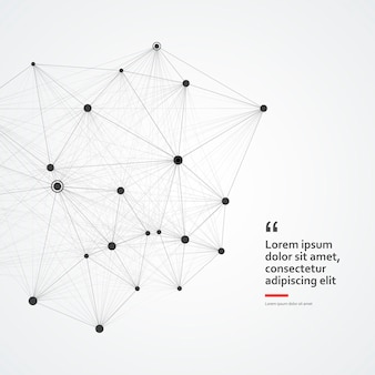 Cercle abstrait connexion, sciences ou concept technologique