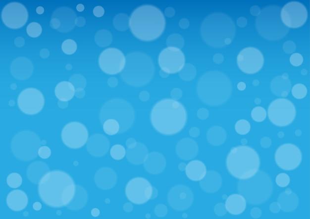 Cercle abstrait sur fond de couleur bleue