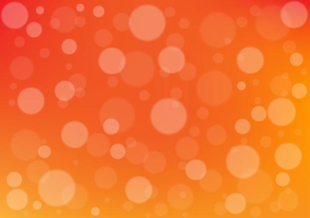 Cercle abstrait sur fond de couleur orange