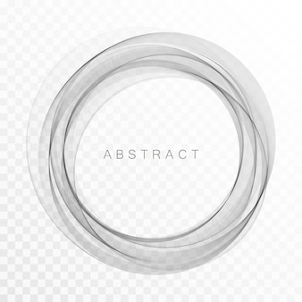Cercle abstrait gris de lignes. cadre ou fond de vecteur abstrait.