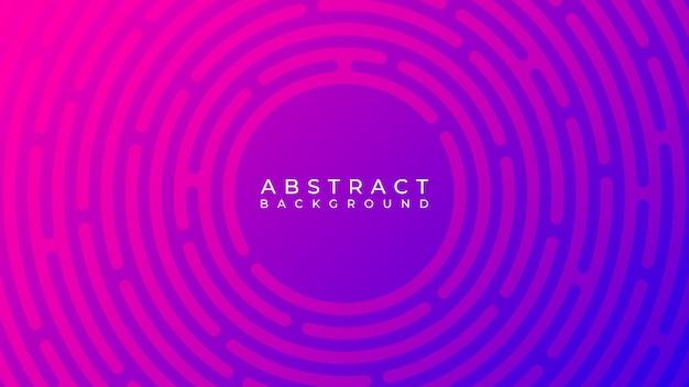 Cercle abstrait ligne