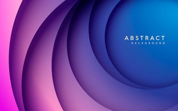 Cercle abstrait papercut fond de couleur lisse