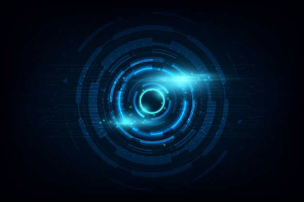 Cercle abstrait science fiction futuriste technologie innovation fond