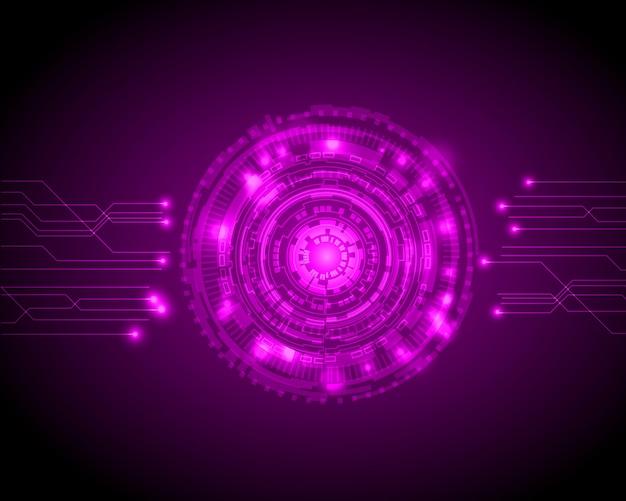 Cercle abstrait technologie numérique
