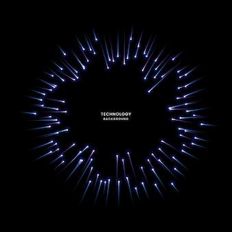 Cercle abstrait de technologie