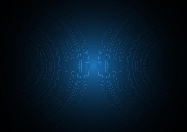 Cercle abstrait technologie