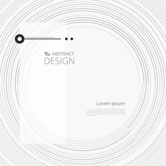 Cercle abstraite moderne simple ligne avec espace de textos.