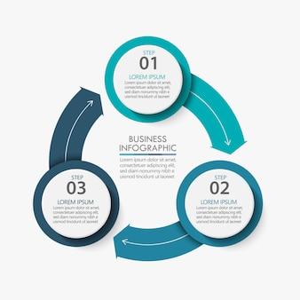 Cercle d'affaires. conception d'icônes infographie chronologie
