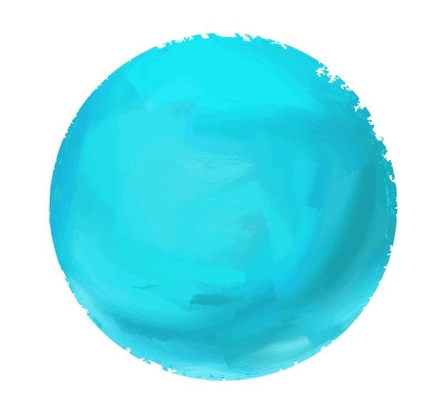 Cercle aquarelle bleu