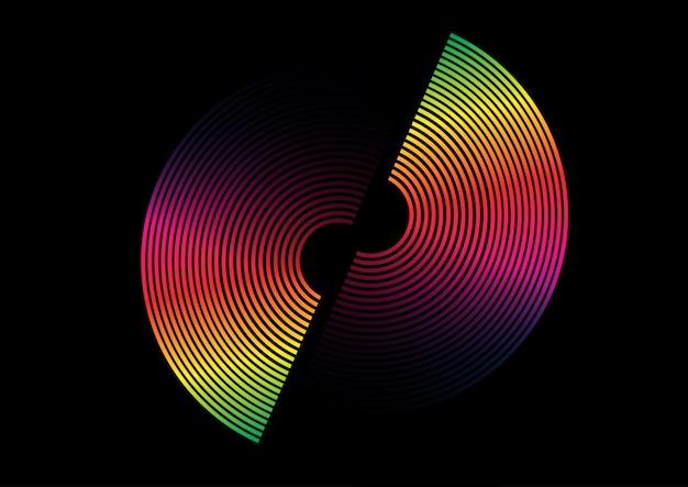 Cercle arc en ciel coloré