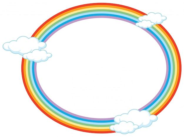 Cercle de bannière arc-en-ciel