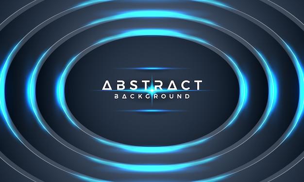 Cercle bleu abstrait métallique vecteur 3d.