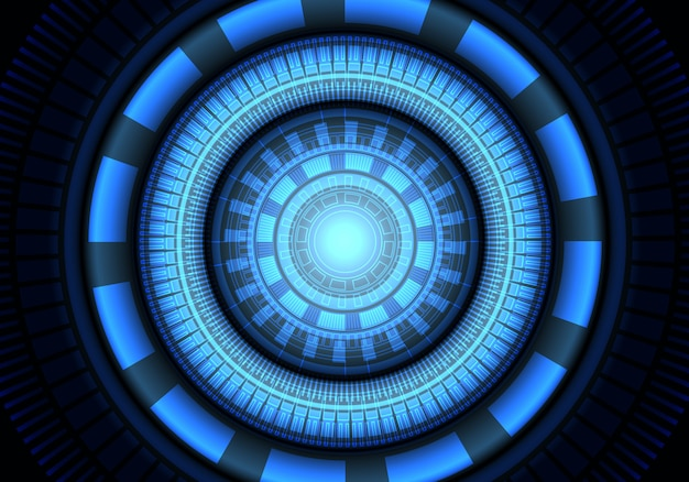 Cercle bleu fond de système de technologie de l'énergie système d'énergie.