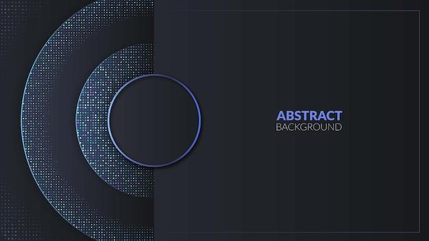 Cercle bleu moderne avec fond abstrait de paillettes bleues