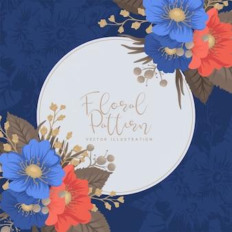 Cercle des bordures de fleurs - cadre rond