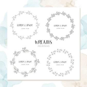 Cercle cadre floral design