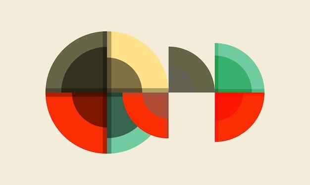 Cercle coloré abstrait sur fond blanc design pour présentation