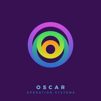 Cercle coloré créatif avec logo de couche.