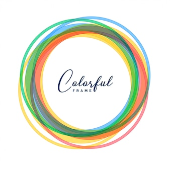 Cercle coloré encadre fond