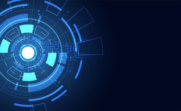 Cercle de communication concept abstrait moderne technologie