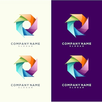 Cercle de conception de logo coloré premium vector