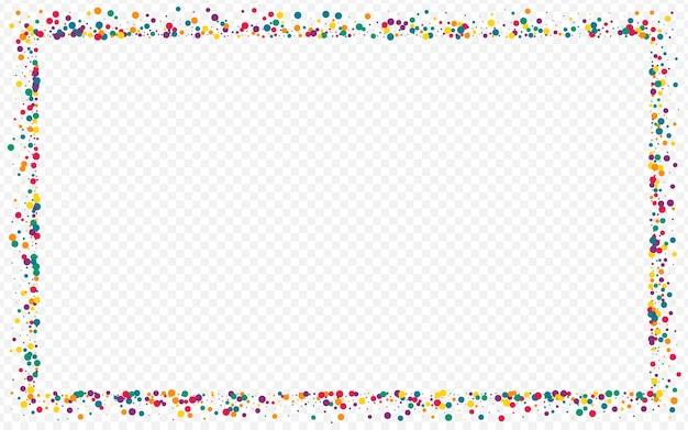 Cercle de couleur fallingfestive fond transparent. fond d'écran d'éclaboussure de vecteur. effet confetti illustration. texture de dessus rond orange.