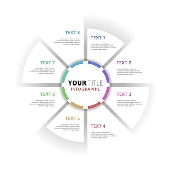 Cercle creative diagramme business plan concept infographie modèle élément
