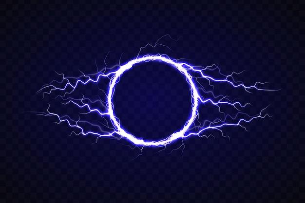 Cercle électrique avec effet de foudre