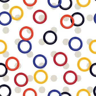 Cercle d'été géométrique sur pois à rayures