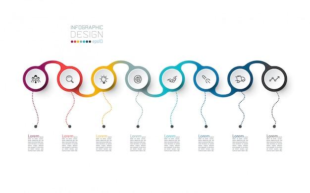 Cercle étiquette art vectoriel infographique.