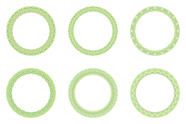 Cercle floral abstrait géométrique