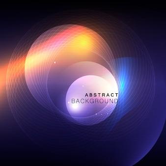 Cercle sur fond abstrait.